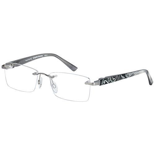 Change Me randlose Brille 2510-2 mit Wechselbügel 8696-1 silber