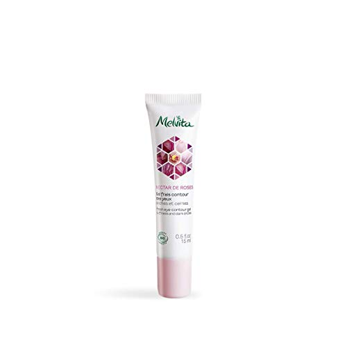 Melvita - Gel Frais Contour des Yeux Certifié Bio Nectar de Roses - Anti Cernes, Poches,...
