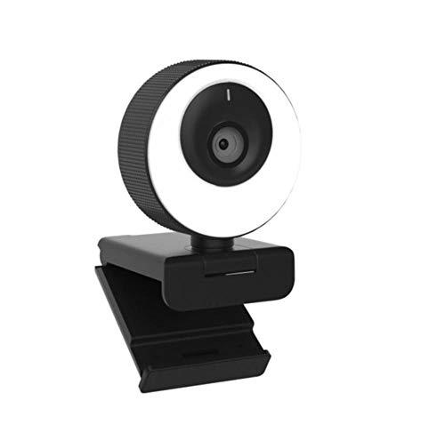 SUN100 Cámara HD con Enfoque Automático Y Cámara Web con Anillo De Luz para Micrófono