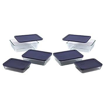 Pyrex Simply Store 12-Piece Rectangular Glass Food Storage Set (12)