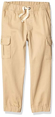 Amazon Essentials Kids Boys Cargo Jogger Pants, Khaki, X-Small