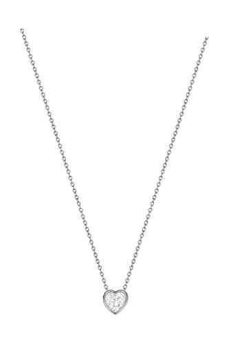 Esprit Essential Damen-Kette mit Anhänger ES-LOVE rhodiniert Zirkonia transparent 42 cm - ESNL02764A420