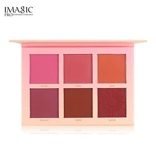 YusellYu 6 Farben Gesicht Make-up Wange erröten Puder Matte Rouge gedrückt Foundation-Palette