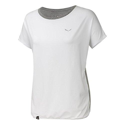 Salewa Puez Hybrid Dry W T-Shirt à Manches Courtes, Femme, Puez Hybrid Dry W, Blanc (White / 0538)