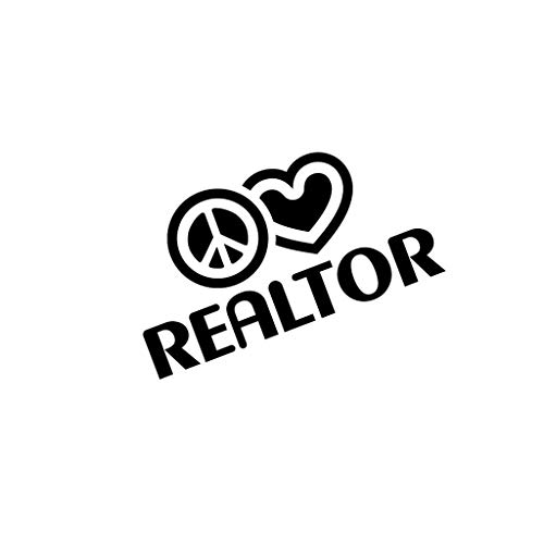 PressFans - Peace Love Realtor Car Laptop Wall Sticker
