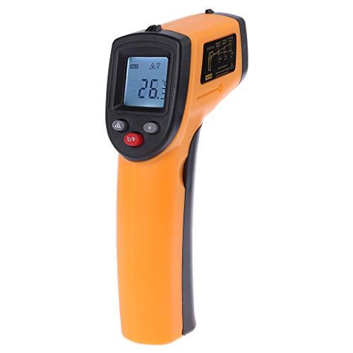 GHBOTTOM Instrumento de medición de temperatura, Digital gm320 Termómetro infrarrojo sin contacto termómetro medidor de temperatura pirómetro industrial IR Point Gun -50 ~ 380 grados
