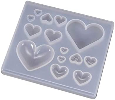 UV Resin Crafts Making DIY Heart-shaped Epoxy Crystal Mold Candy In stock Soldering
