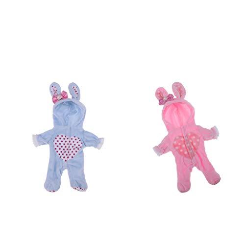 Colcolo 2 Piezas de Ropa para Muñeca MellChan - Mono Y Sombrero Azul / Rosa