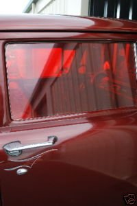 GASSER WINDOW TINT RED VINTAGE RETRO CAR TRUCK NOSTALGIA 60'S 70'S FILM DRAGSTRIP RACE RACING HOT ROD RAT ROD A/FX B/G S/S SS/AA MOON SUN COMPATIBLE WITH FORD CHEVY DODGE PLYMOUTH WILLYS ANGLIA NOVA