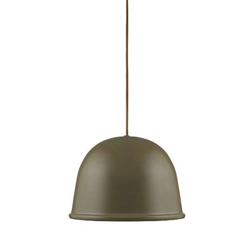 Normann Copenhagen - Lampada da soffitto, Acciaio Tessile, verde, H: 19 x Ø: 28 cm