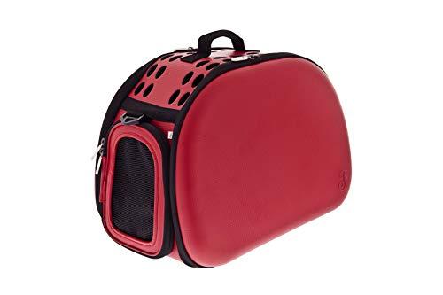Ferribiella Eva Easy - Sac de transport pour chiens, chats, bleu et rouge, sac de voyage pour chien et chat, sac de transport pour animaux 43 x 31 x 28 cm (rouge)