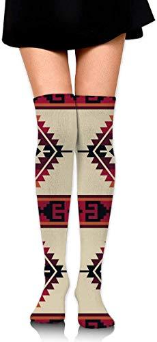 NA Knee High Leg Warmer Funny Daryl Dixon Poncho Pattern Compression Sock High Tube Thigh Boot Stocking for Women Teens Girls