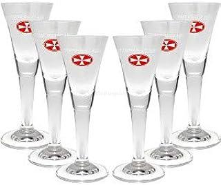 Malteserkreuz Aquavit Glas Gläser-Set - 6x Gläser