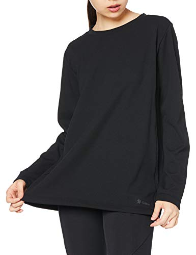 [シースリーフィット] リカバリーウェア リポーズ ロングスリーブTシャツ レディース 光電子 遠赤外線 保温 ブラック L