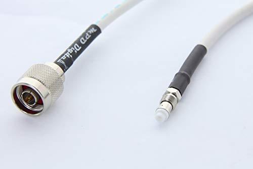 MPD Digital RG8X Marine Radio VHF AIS Cable de extensión de Antena N Macho y Conectores Hembra FME Fabricado en los Estados Unidos, 15...