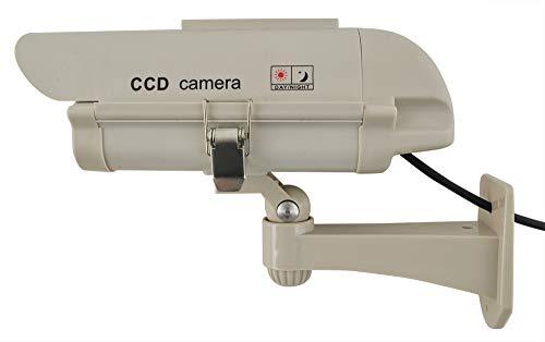 Iso Trade 5882 Bewakingscamera met bewegingsmelder, camera-dummy, veiligheidscamera