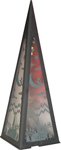 das wohnwerk Weihnachtliche Hologramm Pyramide 58cm Hologram 3D-Effekt LED (schwarz) x Mas LED Kegel Lichterbaum