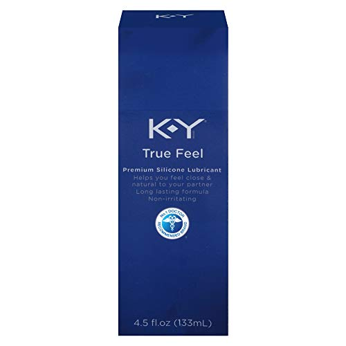K-Y True Feel Premium Silicone Personal Lubricant, Long-Lasting Formula (Anal Lube) That is Latex, Polyisoprene and Polyurethane Compatible, 4.5 oz, 2 Bottles