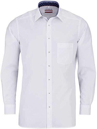 Marvelis Modern Fit Hemd Langarm New Kent Kragen weiß Größe 40