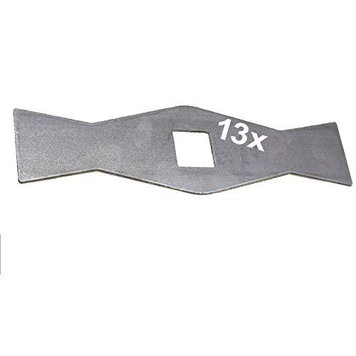 13 Vertikutierer Messer für Gutbrod VS40 VS40A VS40E MV404 MVE400 ersetzt: 079.85.051 (13 x 183 mm ZB 20 mm 4-kant für VS40 VS40A VS40E MV404 MVE400)