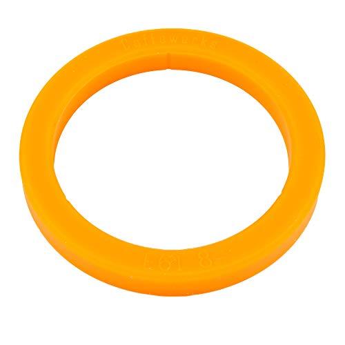 SW-K Junta tórica para portafiltros de cafeteras tipo E61 (73 x 57 x 8 mm), color naranja