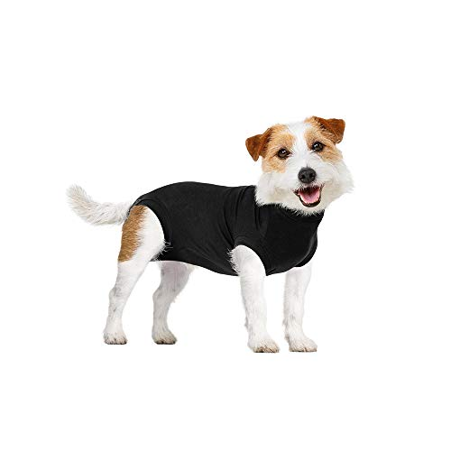 Suitical Recovery Suit Dog, XX-Small, Black