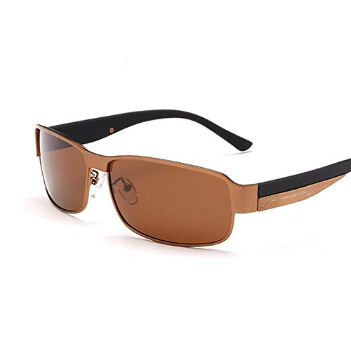 NJJX Gafas De Conducción Polarizadas Deportes Al Aire Libre Gafas De Sol Para Hombre Gafas 4-Bronze-Tea
