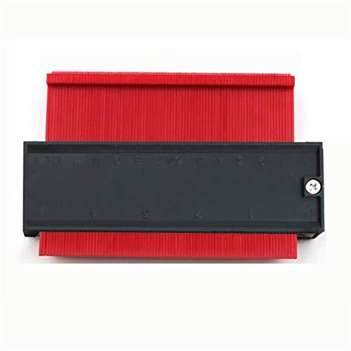 Plantilla de contorno de calibre Contorno de plástico Copia de copia Duplicador Herramienta de medición Forma de forma Duplicador Duplicación de perfil Herramienta de medición (Color : Red)