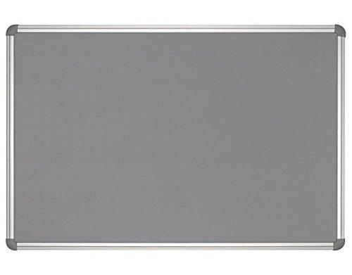 Pinnboard Office, Textil, 90x180 cm, Farbe: grau