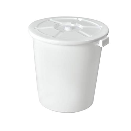 Find Bargain LXF Outdoor Waste Bins Outdoor Plastic Waste bin, Trash can, Trash can, Heavy Color Tra...