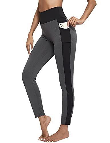 Sykooria Leggins Mujer Push up Deportivos, Leggings para Mujer Pantalones Deportivos de Yoga de Suaves Elásticos Cintura Alta con Bolsillos para Gimnasio Mujer Jogging Correr Escalada Yoga