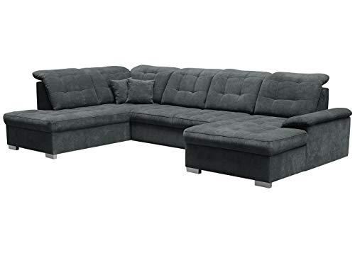 Selsey Jamaal - Wohnlandschaft/Sofa in U-Form mit Schlaffunktion (Ottomane rechts)
