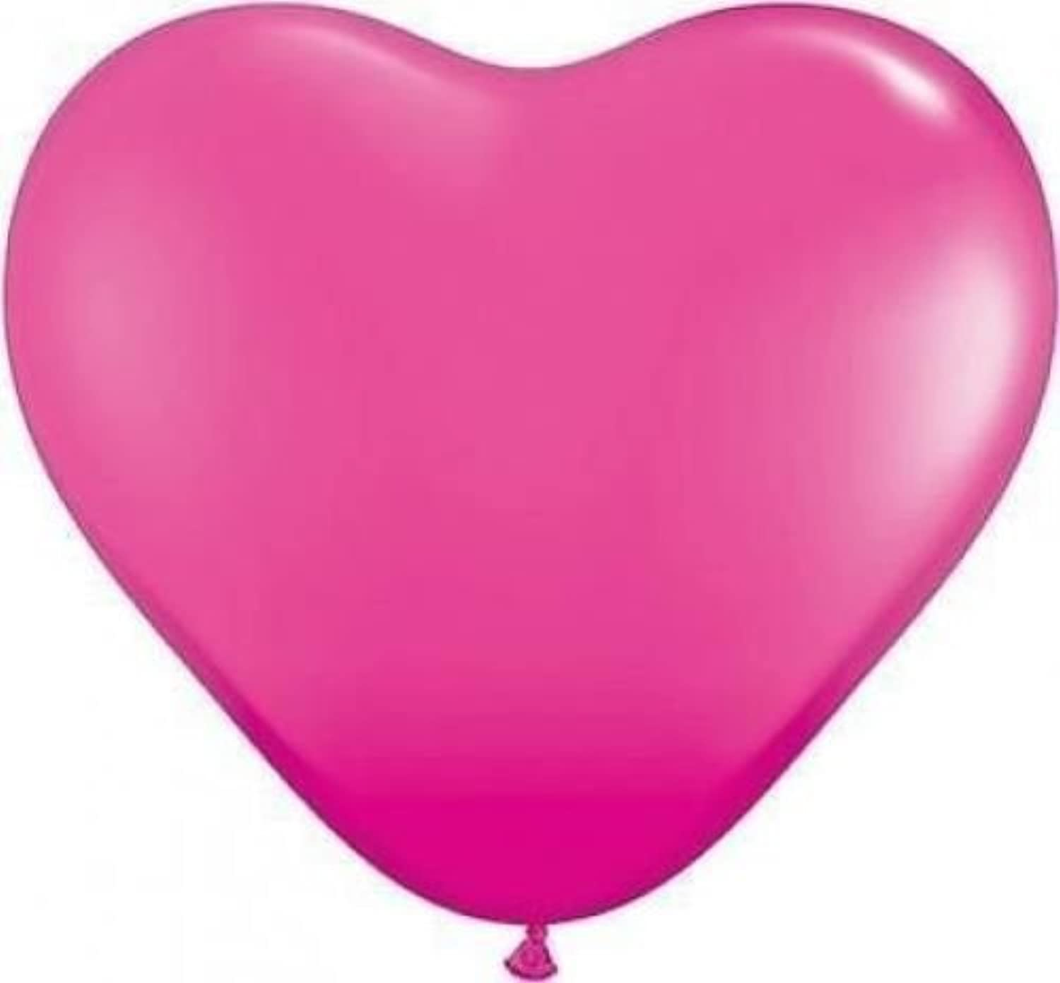 Wild Berry Pink 11 Qualatex Heart Shaped Latex Balloons x 10 by Qualatex