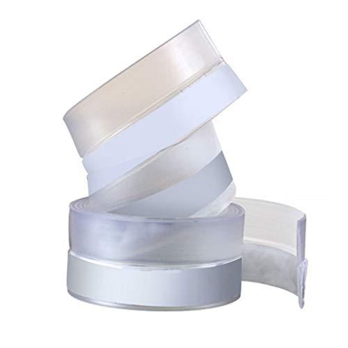 Tensay Transparent Windundurchlässiges Silikondichtband Stangendichtband Türdichtband Holztür Schlitz Fensterboden Windschutzscheibe 300 x 2,5 x 0,5 cm