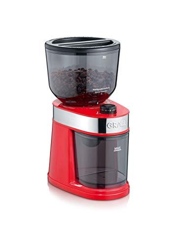 Graef CM203EU Kaffeemühle, 130, Kunststoff, Metall, rot