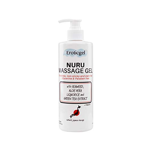 Authentic Japanese Massage Gel 500ml with Aloe Vera, Seaweed, Green Tea, Liquorice Extract, and Vitamin B5