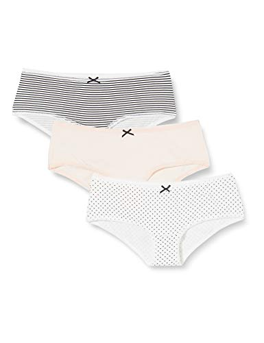 Amazon-Marke: Iris & Lilly Damen Hipster, 3er Pack, Mehrfarbig (Soft Pink/Print), XXL, Label: XXL
