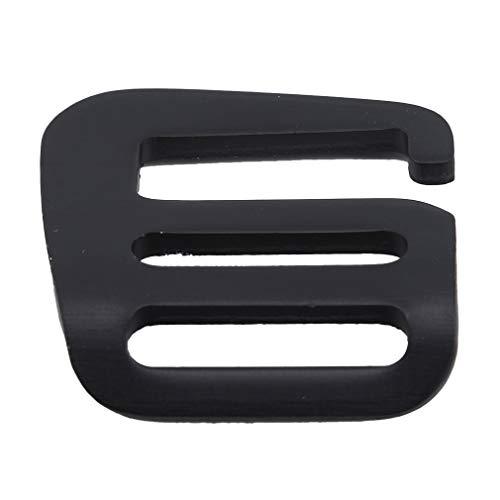 LWANFEI Metall G Haken Gurtband Schnalle Outdoor Karabiner Schnellverschluss, verstellbare Rutsche Schnalle Rutschen für die Herstellung von Handtasche, Rucksack, Outdoor-Sport-Zubehör