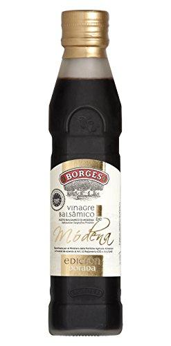 Borges - Vinagre Balsámico de Módena I.G.P - Edición Dorada., Macerado en Barricas de Roble - Botella de 250 ml.