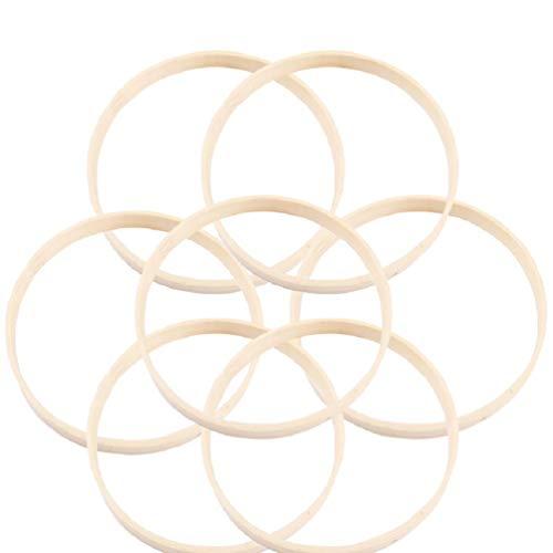 LIOOBO Traumfänger Ringe Bambus DIY Handwerk Traumfänger Machen Dekoration Zubehör 10pcs