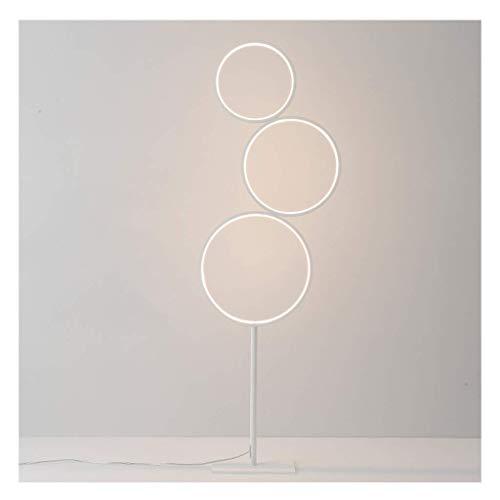 N/Z Living Equipment Stehlampe Nordic Stehlampe Creative LED Round Stehleuchte Wohnzimmer Sofa Schlafzimmer Nachttischlampe Iron Art Stehleuchte Stehleuchte (Farbe: Weiß)
