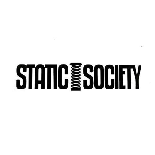 JYIP 16X3.6CM Static Society Originality Black/Silver Vinyl Decal Car Sticker Car-Styling S8-1008 Silver