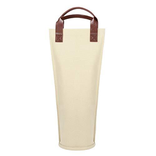 Kato Tirrinia Flaschentasche für 1 Flasche Kühltasche Isolierter und Tragbarer Wein Tasche Transport für Picknick, Reisen, BYOB Restaurant, Weinprobe, Party, tolles Geschenk für Weinliebhaber, Beige