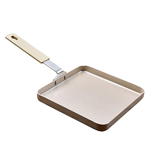 JTJxop Omelette Pan/Egg Pan, Rectangle Small Frying Pan, 100% PFOA-Free, Induction Bottom, for Gas Stove and Induction Hob Compatible 5.655.650.55Inch