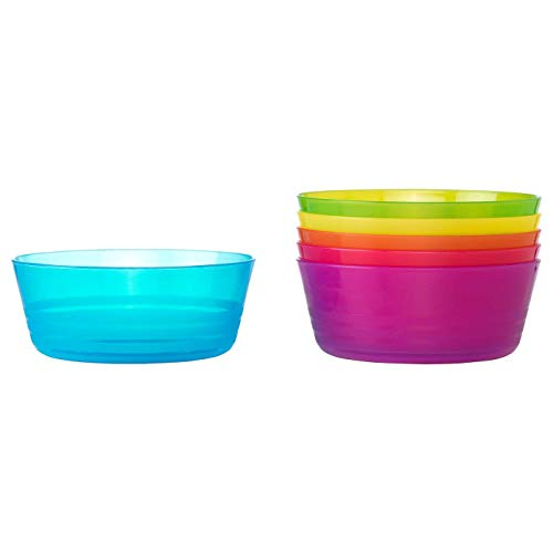 Ikea Kalas Bowls Set, Plastic, Multicolored