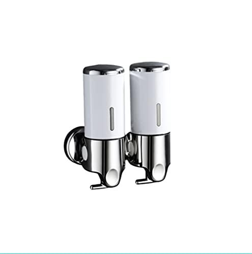 ZHONGHUA Dispensador de jabón Manual Montado en la Pared El dispensador de Botellas hidráulicas de Lavado a Mano es Adecuado para baño y champú y Ducha del Hotel (Color : White)