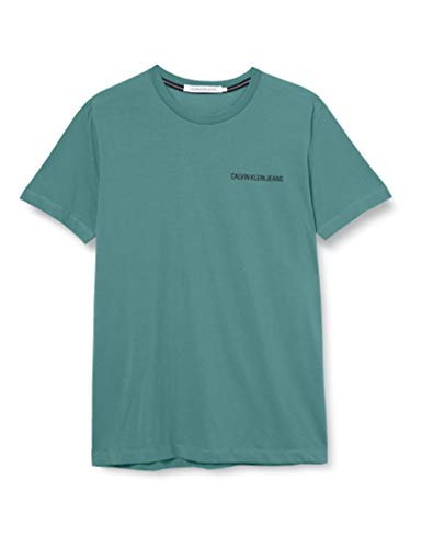 Calvin Klein Institutional Chest Logo SS tee Camisa, Green, XXL para Hombre