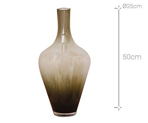 Arte Regal Vase en Verre Moyen Large Ambre