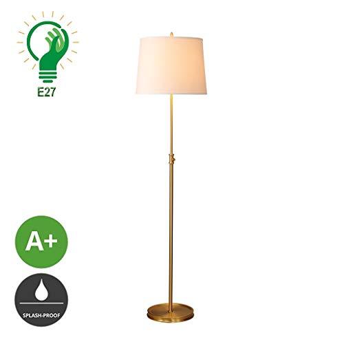 XXCC Verticale tafellampen slaapkamer woonkamer eenvoudige verlichting study leeslamp stof lampenkap staande lamp verticale verlichting creatieve compleet koperen licht