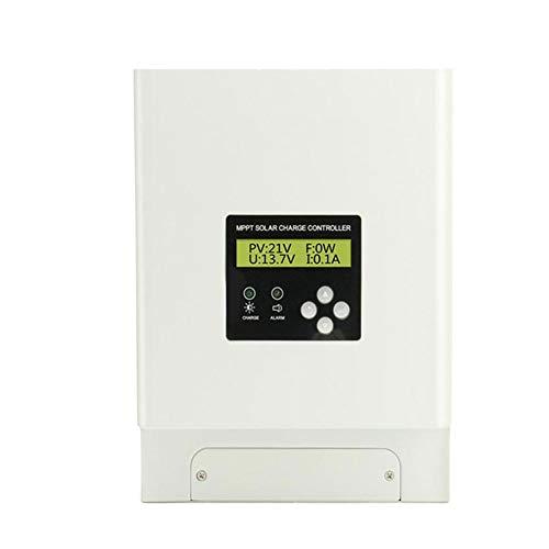 GNY Solar Charge Controller Controlador de Carga Solar MPPT 60A 12V 24V 36V 48V Controlador de Cargador de batería Solar Controlador LCD Pantalla LCD Ventilador Dual Refrigeración (Current : 60A)